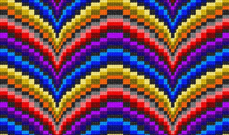 Bargello flerfärg